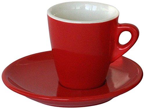 Tognana 25 x 12 x 14,5 cm 75 CC Porcelaine Torref B Wilma Tasse à café et Soucoupe Rouge
