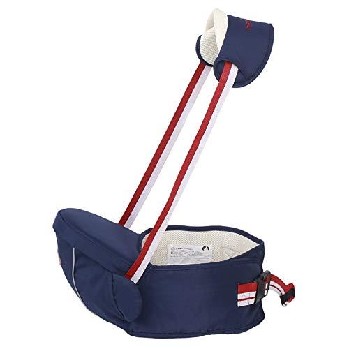 Portabebés para la cadera del bebé Taburete para la cintura del bebé para niños pequeños con bolsillo ajustable con (Blue)