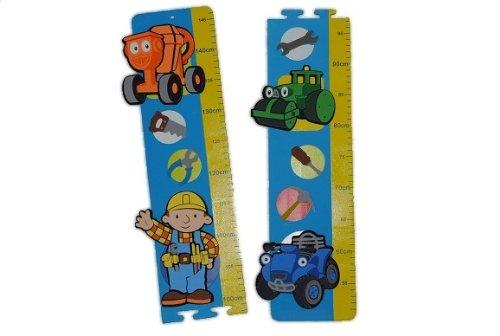 alles-meine.de GmbH 3-D Meßlatte Bob der Baumeister Moosgummi Kind Kinder Baustelle Mixi Rollo