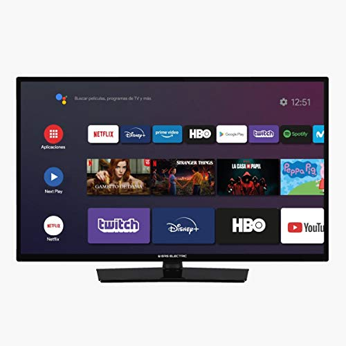 EAS Electric | E32AN70| Televisor Negro | Televisión 32 Pulgadas | Smart TV 32"