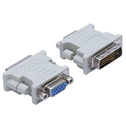 Matedepreso Adapter Converter Mini Connector Multi-Purpose Computer Monitor Video Wit Duurzaam DVI 24+1 Naar VGA Vrouw