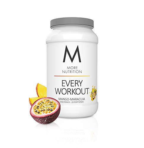 MORE NUTRITION Every Workout (1 x 700 g Pulver) - Fitness Booster mit Creatin für mehr Power und Pump beim Krafttraining (Mango Maracuja)