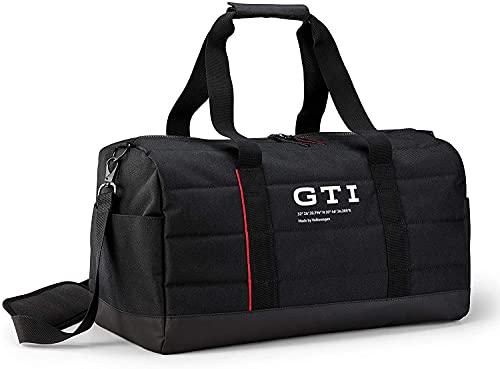 Volkswagen 5HV087318 Sporttasche GTI Logo Tasche Bag Freizeittasche Reisetasche, schwarz, Mittel