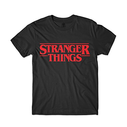 ARTIST Camiseta Stranger Things (XS, Negro)