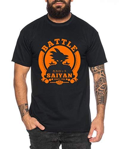 Tee Kiki Son 1986 - Camiseta de Hombre Son Ruffy Luffy Naruto Saitama One Dragon Master Goku Ball Vegeta Turtle Roshi Piece Golds Db