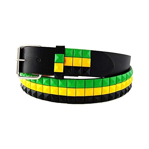 eeddoo zwarte studded riem met studs in Jamaica design L [Large]