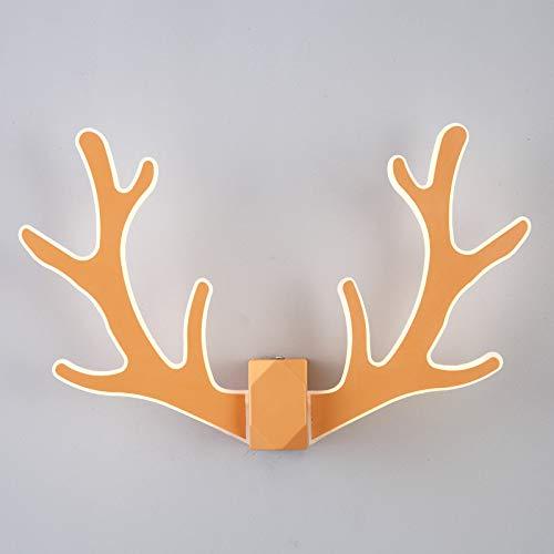 Générique Lampe Murale tête de cerf Chambre à Coucher Salon Chevet cerf Lampe Murale Minimaliste créatif Moderne Bois Minimaliste Lampe Lampe Murale