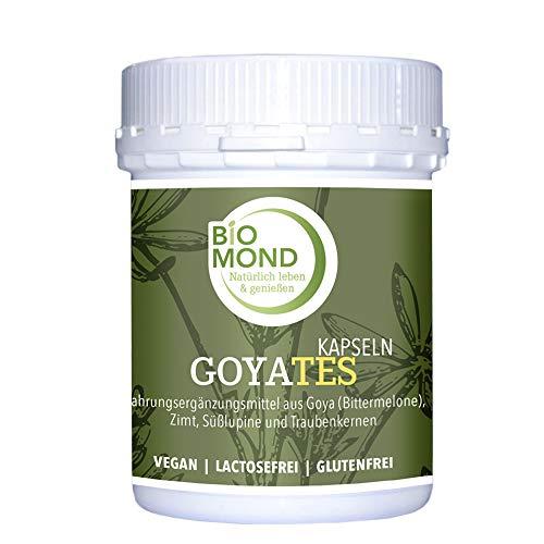 Bio Goyates Kapseln Bittergurke Bittermelone BIOMOND 240 Stück/Goya/Zimt/Traubenkerne/Süsslupine