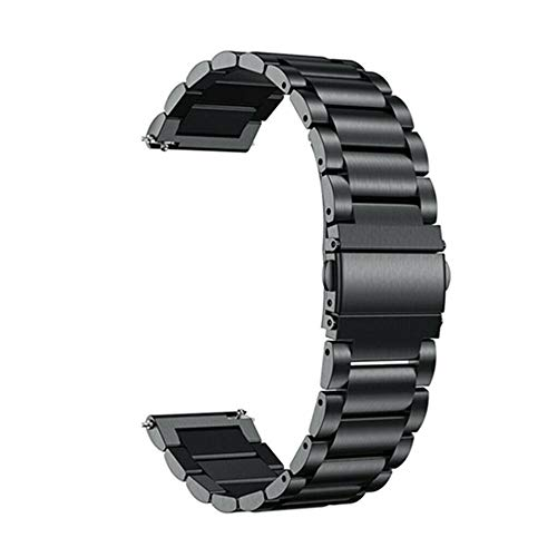 Quick Release Watch Strap,Stainless Steel Watch Band Replacement for Women and Men ,16mm 18mm 20mm 22mm 24mm,Tools Including (20mm, Black)