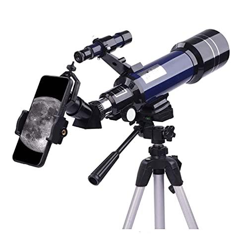 DRGRG Telescopio, S para Adultos, Refractor Astronómico De 400X70Mm, para Niños, S para Adultos Astronomía, Observación De Estrellas Profesional (Tamaño: Blanco Puro)