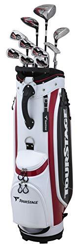 BRIDGESTONE(ブリヂストン) ゴルフクラブセット メンズ TOURSTAGE V101 キャディバッグ付きクラブ10本セット