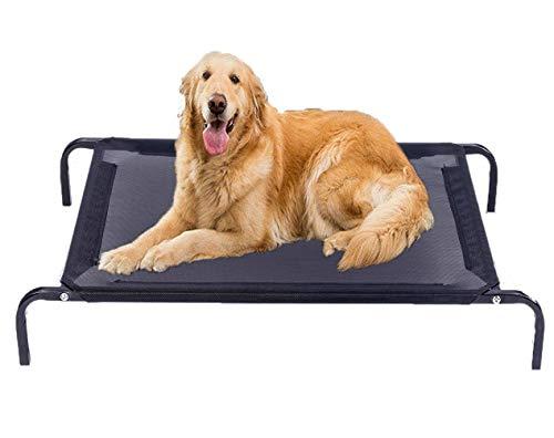 leyoutime - Cama de verano para mascotas elevada para perros, transpirable, a prueba de humedad, fácil de limpiar