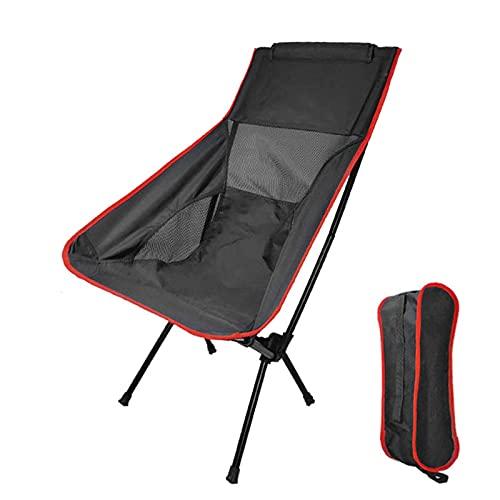 Foway Sedia da campeggio portatile, pesante, per il tempo libero, da viaggio, con poltrona reclinabile