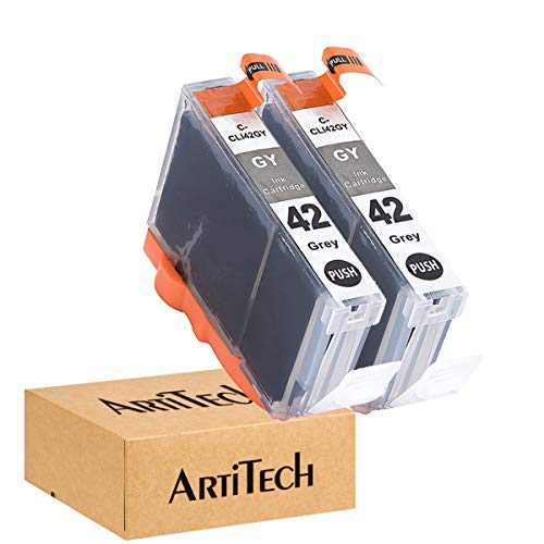 ArtiTech CLI-42 GY Pixma Pro-100 Compatible Ink Cartridges Replacement for Canon CLI42 CLI-42 Gray Ink Cartridge Work for Pixma Pro-100S Printers,2 Pack CLI-42 GY