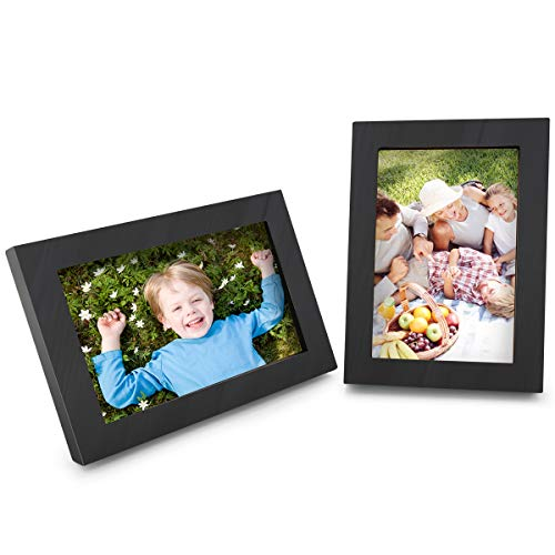 Picture Frames, Picture Frames 4x6 Made of Solid Wood High Definition Glass for Table Top Display and Wall Mounting, Picture Frame 2-pack