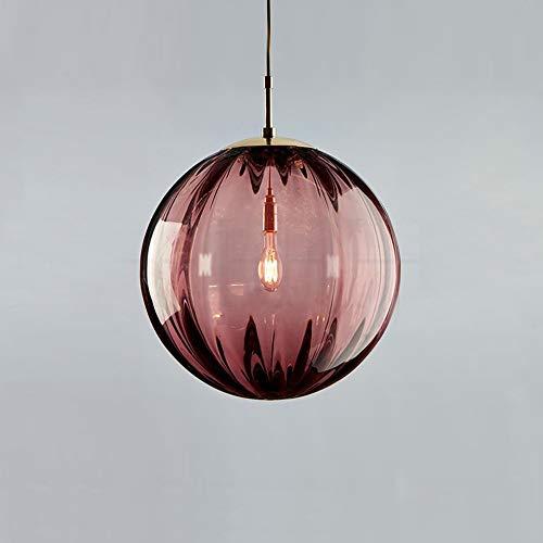 Hanglamp voor eenpersoonsbed, glas, hanglamp voor slaapkamer, nachtkastje, hangend