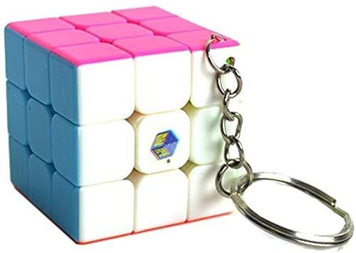 RENFEIYUAN Tragbarer Mini-MA-kreativer Anhänger mit Kette für Handtasche/Rucksack/Schlüsselring magischer würfel (Color : 3x3x3)