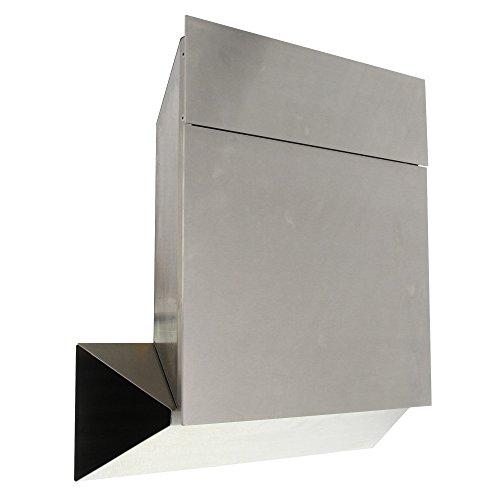 Burg-Wächter Edelstahl-Briefkasten mit Öffnungsstopp, A4 Einwurf-Format, Vollflächig verzinkt, Edelstahl, Quadus 3745 Ni