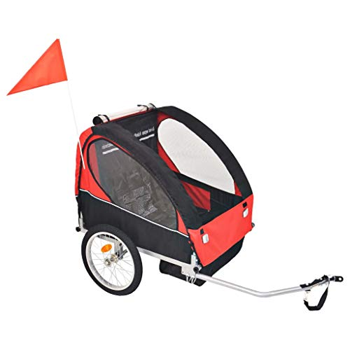 GOTOTOP Rimorchio da Bici per Bambini Rimorchio Passeggino Carrello Carrellino Rimorchio per Cani Rimorchio da Bici per Cani Contenitori da Trasporto per Bicicletta