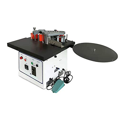 Rbaysale Benchtop Edge Bander, Woodworking Edge Banding Machine Edgebander with Double-Sided Glue, Auto Cut Banding Material, Speed Adjustable Functions, Max Processing Thickness 2.36in
