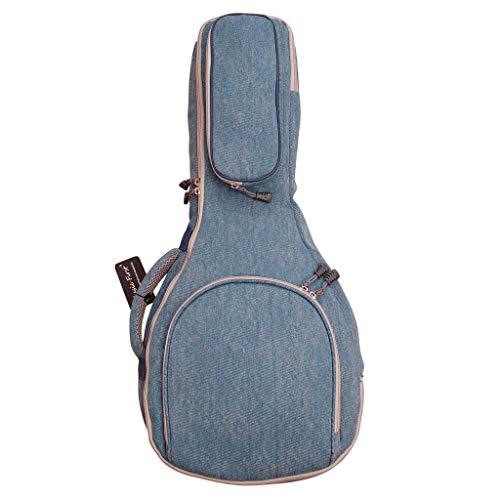 MUSIC FIRST Original Design 15 mm dick gepolsterte Vintage & Retro Jeans Stoff/Denim A & F Style (Standard) Mandoline Gigbag (Softcase) Weiche Mandoline Tasche passend für die meisten Mandoline