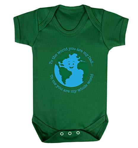 Flox Creative Baby Vest Dad You are My Whole World T-shirt pour bébé - Vert - XS
