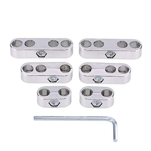 Alambre Separadores de alambre de encendido automático, 7 mm / 8 mm Bujía Separadores de alambre Divisores Telares Separadores de alambre de encendido Soporte de alambre de encendido (plateado) Acceso