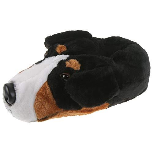 Tierhausschuhe Unisex Hausschuhe Berner Sennenhund, Schwarz, 47/48, TH-Bernersennen