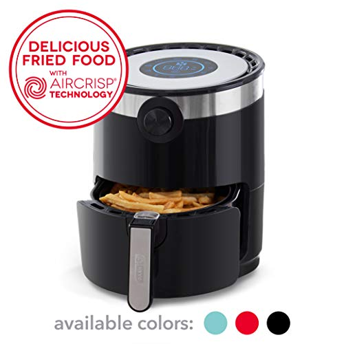 Dash DMAF360GBBK02 AirCrisp Pro Electric Air Fryer + Oven Cooker with Digital Display + 8 Presets, Temperature Control, Non Stick Fry Basket, Recipe Guide + Auto Shut Off Feature, 3qt, Black