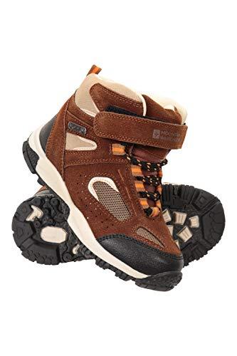 Mountain Warehouse Bottes imperméables Forest Junior - Chaussures de Marche Respirantes et légères pour Enfant - Excellent Confort Marron 29