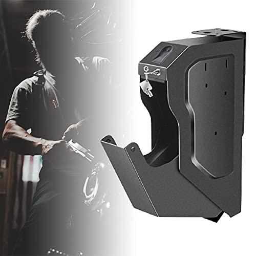 HNWTKJ Portátil Caja de Seguridad para Pistola, Caja de Seguridad Biométrica de Huellas Dactilares, Desbloqueo Rápido de Huellas Dactilares, Caja Fuerte Portátil para Dinero