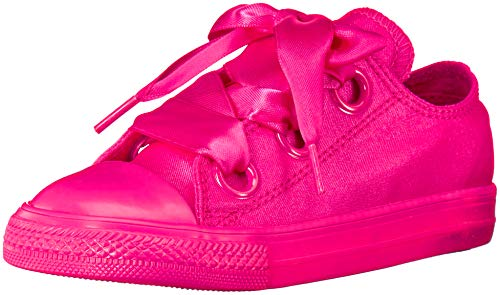 Converse Girls' Chuck Taylor All Star Big Eyelets Low Top Sneaker, Fuchsia, 9 M US Toddler