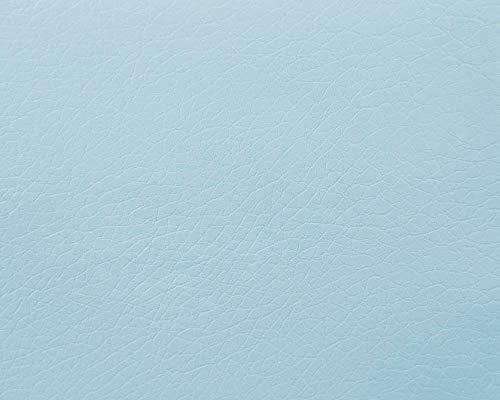 Polipiel para tapizar, realizar manualidades decorar, muebles, cojines, coches, sillas, sofás, bolsos. Tela Ecopiel. Cuero Sintético. 140 cm de ancho (50 cm, Celeste)
