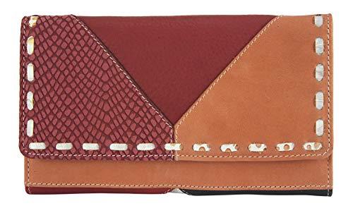 Sunsa Geldbörse für Damen großer Leder Geldbeutel Portemonnaie mit RFID Schutz Brieftasche mit viele Kreditkarten Fächer Geldtasche Wallet Purses for Women das Beste Gift kleine Geschenk 81674