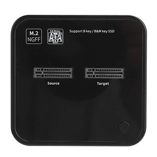 Duplicador de SSD M.2, estación de Acoplamiento SATA de Copia de Disco de clonación sin conexión de 2 bahías K3016SG1 100-240 V, Accesorios de computadora para Windows/OS X/Linux(EU)
