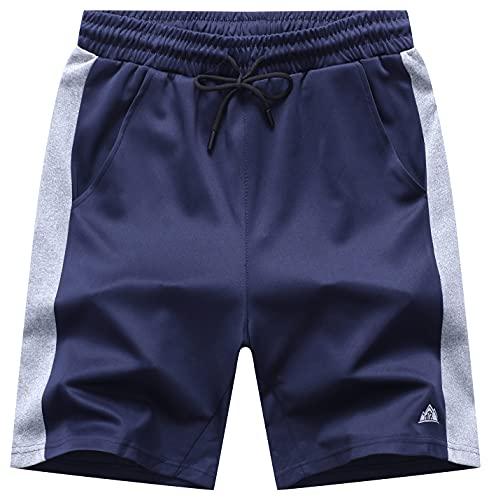 EXQ Herren Sport-Shorts mit Taschen -...