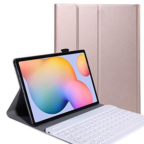 YGoal Keyboard Case for Lenovo Tab M10 HD 2nd Gen, Slim Series Detachable Wireless Keyboard PU Leather Keyboard Stand Case Cover for Lenovo Tab M10 HD 2 TB-X306X, Rose Gold
