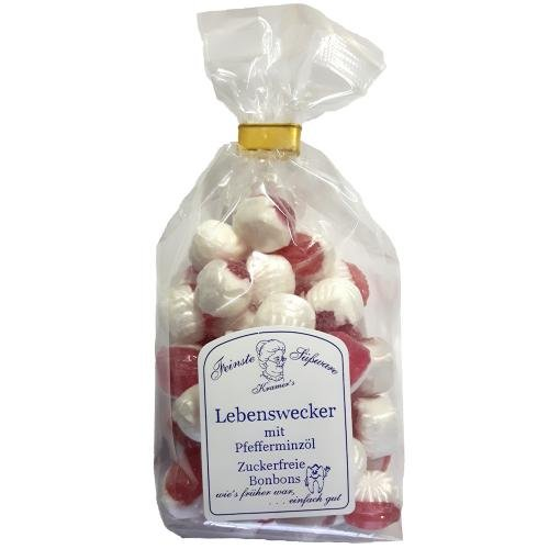 Zuckerfreie Lebenswecker Bonbons mit Pfefferminzöl, 120g