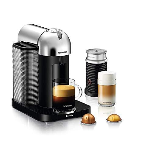 Nespresso Vertuo Coffee and Espresso Maker, Chrome with Aeroccino3 Milk Frother (Renewed)