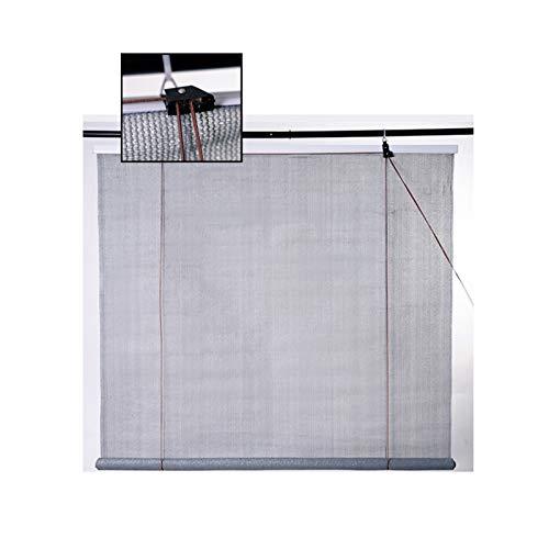 LJIANW Vela de Sombra Toldo Vela, Cortina Enrollable Exterior 90% Protección UV Persianas Bloquea El Sol para Patio Toldo Pérgola, Fácil De Instalar, 45 Tamaños (Color : Gray, Size : 1x1.7m)