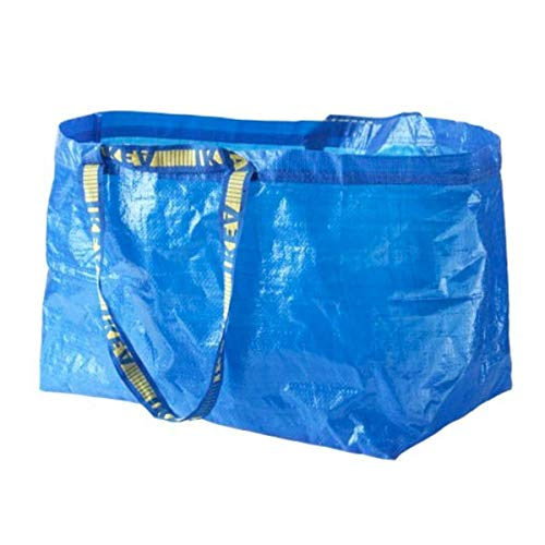Ikea - 20x Frakta Blue Large Bags - Ideal for Outdoor Use & Storage (Max Load - 25kg)
