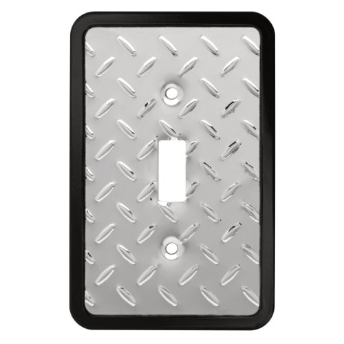 Diamond Plate Single Toggle Switch Wall Plate / Switch Plate / Cover, Packaging may Vary