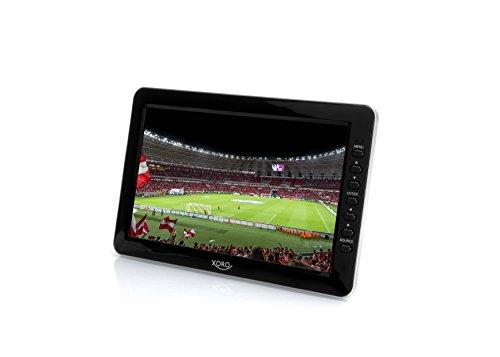 Xoro PTL 1012 25,6 cm (10,1 Zoll) Fernseher (mit 4800 mAh, Tragbarer DVB-T/DVB-T2, H.265/HEVCDekoder, PVR Ready Funktion, Mediaplayer und aktiver Magnetfuss-Teleskopantenne) schwarz