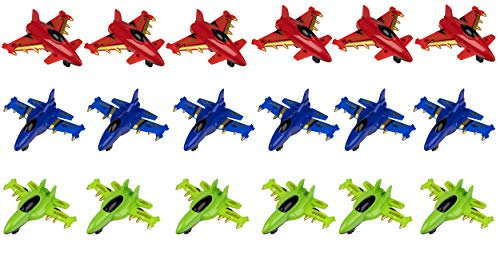 Juvale Party Favor Airplanes Pull-Back Toys (18 Pack)
