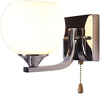 Amazon.com: Mirror Front Lamp, Wall Light, White Lampshade ...