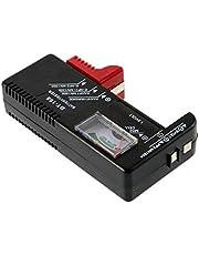 EmNarsissus Digitale Batterij Capaciteit Tester Smart Elektronische Power Indicator Maatregel voor 9 V 1.5 AA AAA Cell C D Batterijen (Zwart)