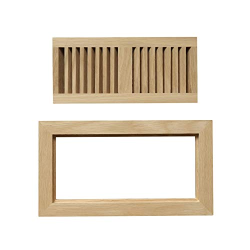 oak flush mount floor register - 6