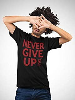 aTIQ Never Give Up Liverpool T-Shirt for Men X Large, Black