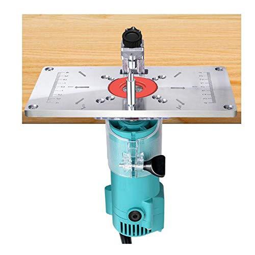 GAO-bo Accesorios y piezas de enrutadores Placa de flip placa eléctrica Fresado de madera Herrado de energía Herramienta eléctrica Máquina de perforación de carpintería Máquina de recorte Tablero Flip