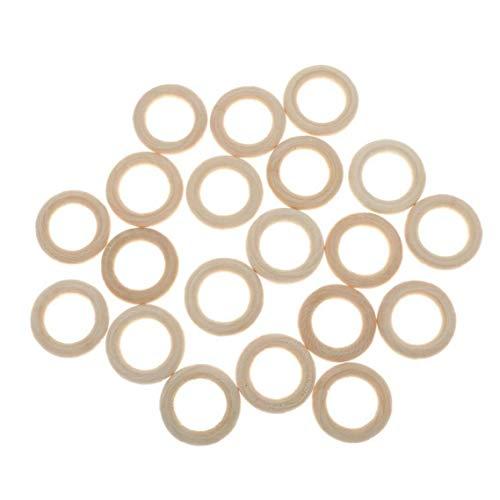ZYCX123 10 PCS Natürliche Holzring-Kreis für DIY Projekte Anhänger Anschlüsse Schmucksachen, die 5.5CM Haushaltsgegenstände